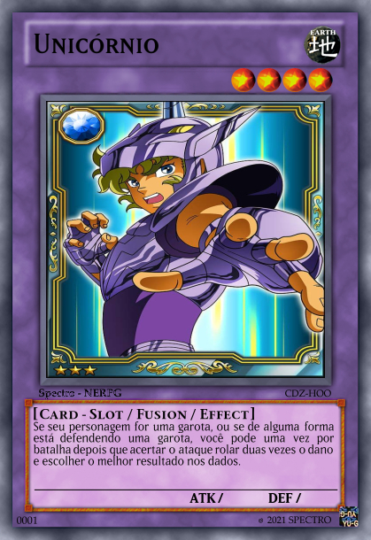 Cards Slot Createcard.php?name=Unic%C3%B3rnio%20&cardtype=Fusion&subtype=effect&attribute=Earth&level=4&trapmagictype=None&rarity=Common&picture=https%3A%2F%2Fi.pinimg.com%2Foriginals%2F1f%2Fef%2Ff6%2F1feff6f9e8b29c2d097f5a895c81d4e3.jpg&circulation=Spectro%20-%20NERPG&set1=CDZ&set2=HOO&type=Card%20-%20Slot&carddescription=Se%20seu%20personagem%20for%20uma%20garota%2C%20ou%20se%20de%20alguma%20forma%20est%C3%A1%20defendendo%20uma%20garota%2C%20voc%C3%AA%20pode%20uma%20vez%20por%20batalha%20depois%20que%20acertar%20o%20ataque%20rolar%20duas%20vezes%20o%20dano%20e%20escolher%20o%20melhor%20resultado%20nos%20dados